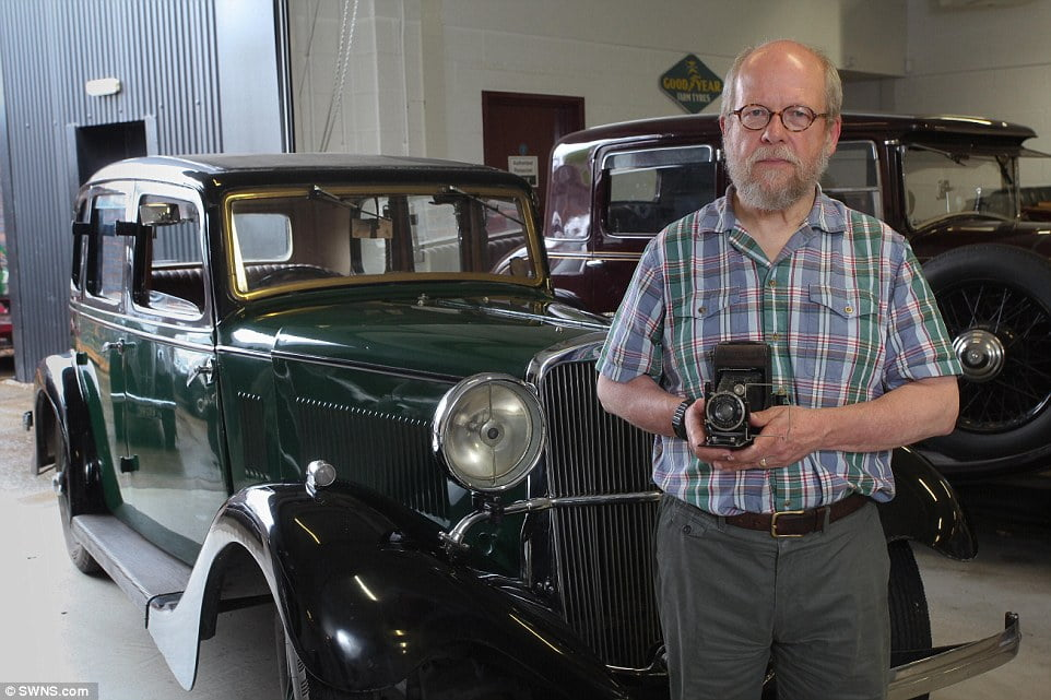 Nostalgia:Robert Bluck, 68, travelled hundreds of miles for one last drive in the 1934 Sunbeam Dawn, one of only eight left in the world