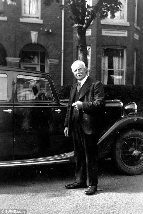 Family history: There were also pictures of Robert's grandfather, Albert, with the Sunbeam
