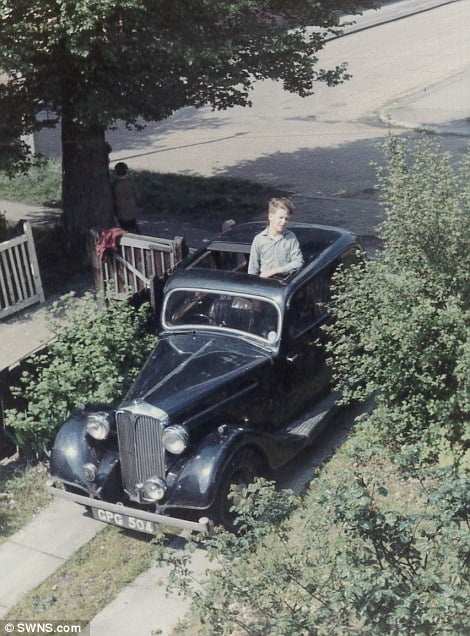 Father Bernard pictured in the car